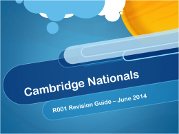 File - Cambridge Nationals ict