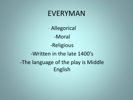 EVERYMAN - Erciyes University - English Language and Literature