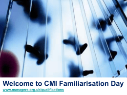 Welcome to CMI - Chartered Management Institute