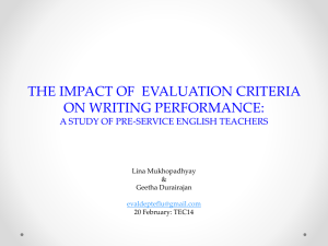 the impact of using evaluation criteria on writing
