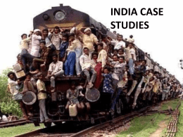 INDIA CASE STUDIES - IBGeography