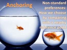 Anchoring & Adjustment Bias