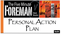 the Personal Action Plan (PowerPoint)