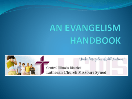 an evangelism handbook - Central Illinois District