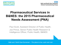 Pharmaceutical Needs Assessment Jan 2015