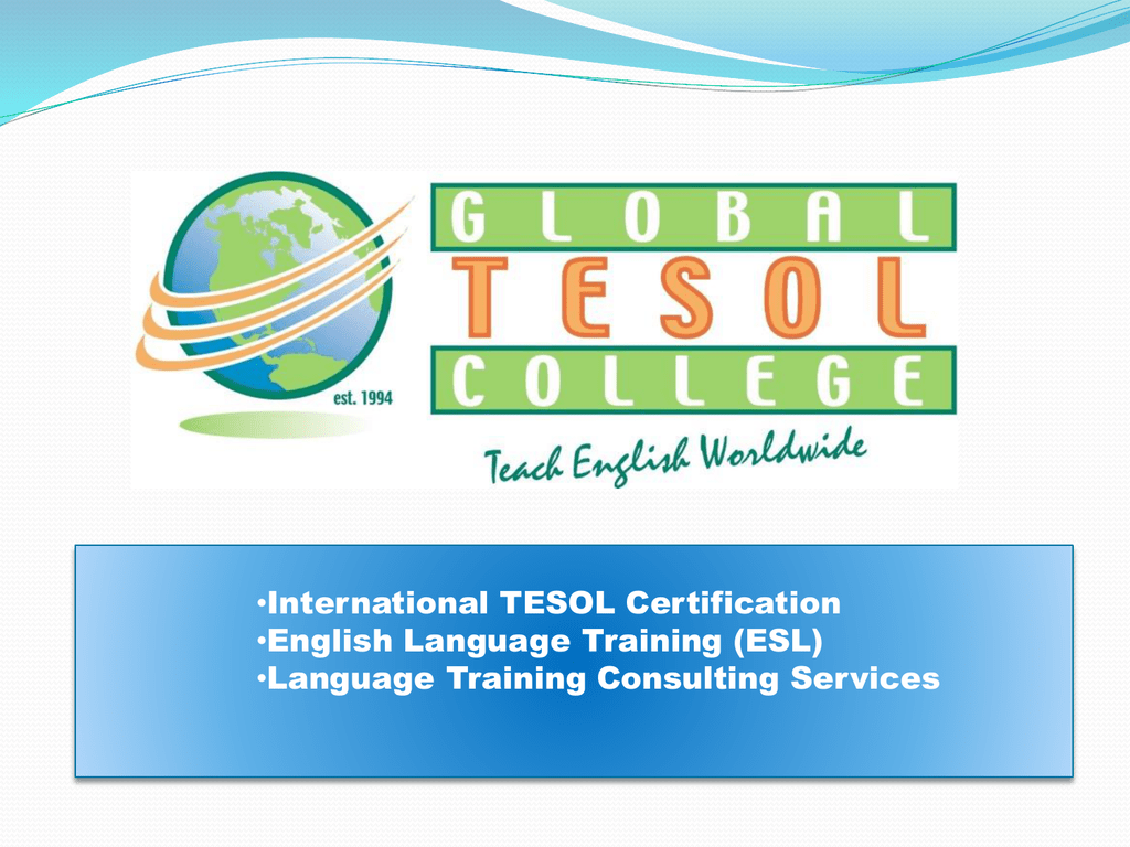Global Tesol College Highlights Powerpoint