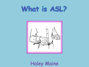American Sign Language Powerpoint