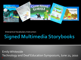 Multimedia Storybooks