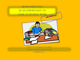 Book Inspection workshop