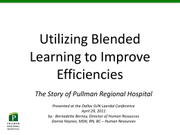 Utilizing Blended Learning to Improve Efficiencies | Donna