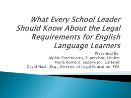 ELL Legal Requirements Workshop.4.26.12