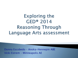 Reasoning Through Language Arts