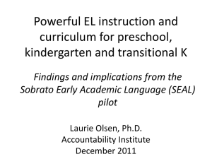 LaurieOlsen PreKKTK handout - Multilingual Education Services