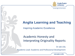PowerPoint Slides - Anglia Learning and Teaching