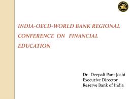 Dr.(Ms) Deepali Pant Joshi