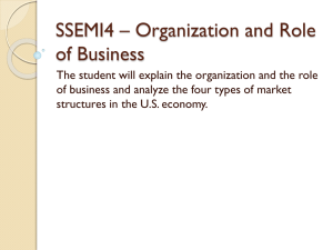 SSEMI4 – Organization and Role of Business