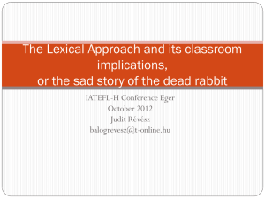 The Lexical Approach PPT