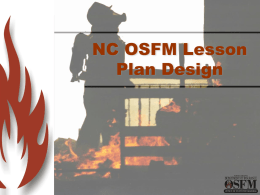 Lesson Plan Design - North Carolina Department of Insurance
