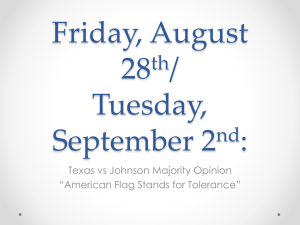 Texas v Johnson Majority Opinion