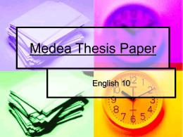 medea essay assignmentmedea thesis paper