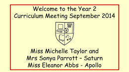 Meet the Teacher - Yr 2 ppt