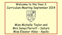 Meet the Teacher - Yr 2 ppt