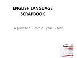 ENGLISH LANGUAGE SCRAPBOOK