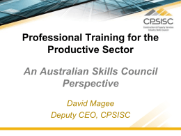 Industry Skills Councils are