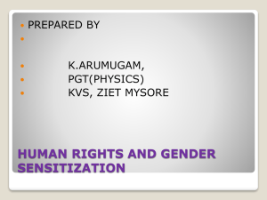 Gender sensitization PPT