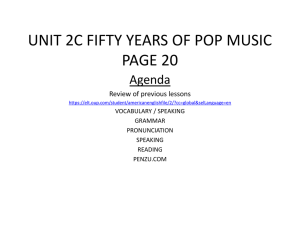 UNIT 2C FIFTY YEARS OF POP MUSIC PAGE 20
