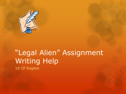 *Legal Alien* Assignment Writing Help