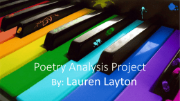 Poetry Analysis Project - Cultivated Minds