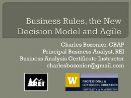 Business Rules - Agile and Effective Business Analysis