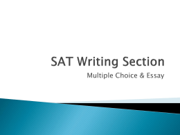 SAT Writing Section - Greer Middle College || Building the Future
