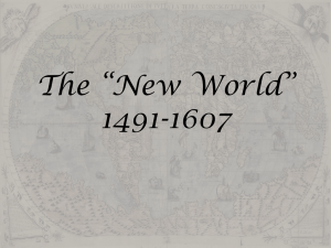 The *New World* 1491-1607