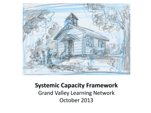 Oct 2013 Capacity Framework - Grand Valley State University