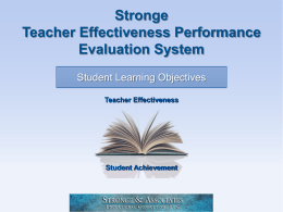 Student Learning Objectives Overview