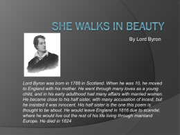 she walks in beautyshe walks in beauty   mrs  o`s brit lit webpage