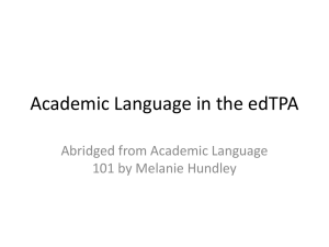 Abridged Academic Language PPT