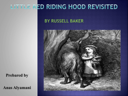Little Red Riding Hood Revisited
