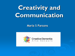 Creativity and communication in dementia