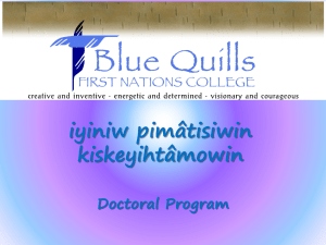 Blue-Quills - American Indigenous Research Association