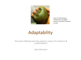 The Adaptability Value - Adult Learning Australia