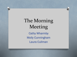 Morning Meeting Presentation