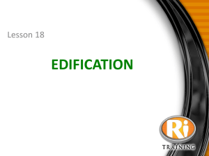Edification - Lifestyle Reset Tools