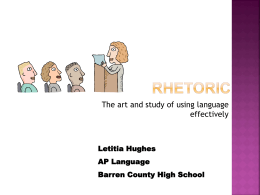 rhetoric for prep session - Barren County School District