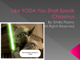 Like YODA You Shall Speak Chiasmus