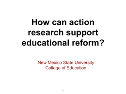 NMSU Action Research - International and Border Programs