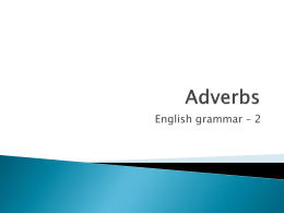 Adverbs(1) - Service @ School