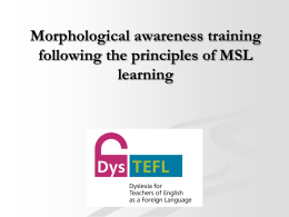 Morphological awareness training